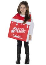 Milk Carton Unisex Kids Costume