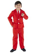 Kids  Red Boys Costume