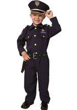 Kids Boys Police Officer Realistic Costume