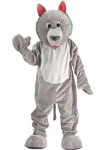 Hungry Wolf Mascot Unisex Adults Costume