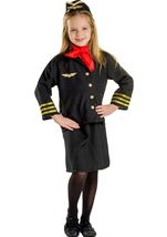 Flight Attendant Girls Costume