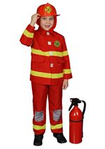 Boy Fire Fighter Red Costume