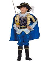 Blue Noble Knight Boy Costume