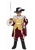 Red Noble Knight Boys Costume