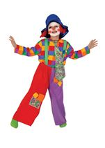 Colorful Clown Boy Costume