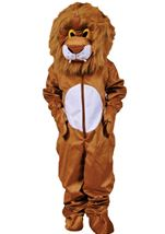 Plush Lion Mascot Kids Unisex Costume