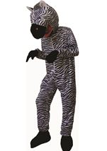 Striped Zebra Mascot Kids Unisex Costume