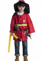 Kids Fire Fighter Role Play Set  Unisex Costume