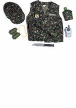 Military Officer Role Play Set Kids Unisex Costume