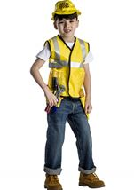 Kids Construction Worker Role Play Set  Unisex Costume