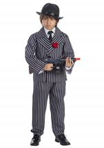 Pinstriped Gangster Boys Costume