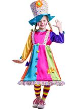 Polka Dot Clown Girl Costume