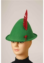 Alpine Hat With Feather Green