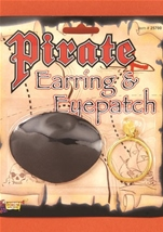 Pirate Earrings And Eye Patch