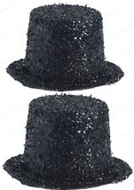 Deluxe Glitter Top Hat Black