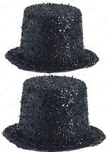 Deluxe Glitter Top Hat Black