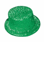 Glitter Top Hat Green