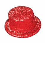 Adult Glitter Top Hat Green