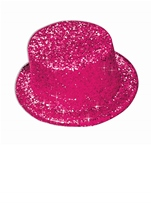Glitter Top Hat Hot Pink