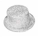 Glitter Top Hat  White