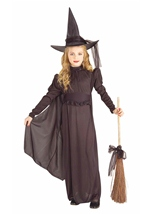 Girls Classic Black Witch Costume