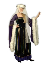 Medieval Lady Renassiance Women Designer Deluxe Costume