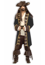 High Seas Pirate Deluxe Men Costume
