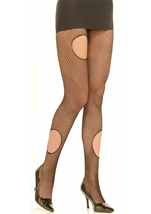 Gothic Torn Fishnet Pantyhose