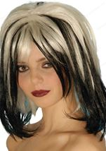 Black And White Wicked Women Wig