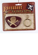 Pirate Deluxe Eye Patch And Earring