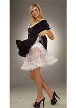 White Crinoline Plus Size Woman