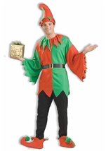 Adult Santas Helper Unisex  Elf Costume