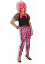 Zebra Stirrup Pants Women Pink