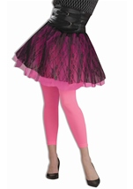 Footless Adult Tights Neon Pink