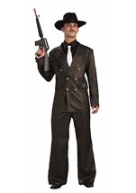 20s Gangster Gold Stripe Men Costume
