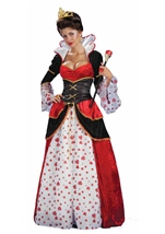Princess Fairy Tale Queen Of Hearts Deluxe Woman Costume