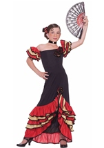 Flamenco Spanish Dancer Girls Costume