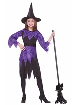 Girls Spider Witch Costume
