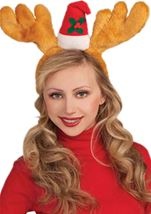 Reindeer Antler Headband With Hat