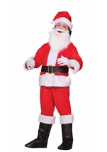 Deluxe  Santa Boy Christmas Costume