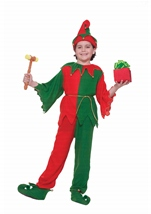 Santas Helper Elf Kids Unisex Christmas Costume