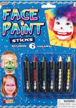 6 Face Paint Color Sticks Set