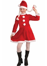 Little Miss Santa Helper Girl Christmas Costume