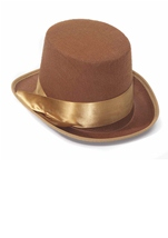 Adult Steampunk Brown Bell Topper Men Hat
