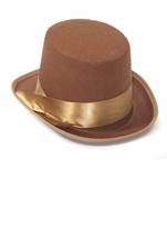 Steampunk Brown Bell Topper Men Hat
