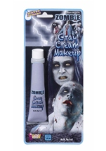 Gray Cream Zombie Makeup