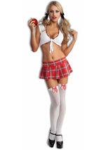 Sexy School Girl Red Costume