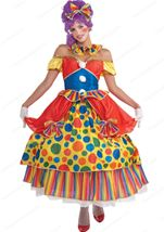 Belle Of The Big Top Women Clown Costume