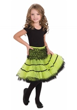 Neon Green And Black Girl Petticoat