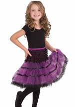 Purple And Black Girl Petticoat